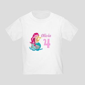 Pink Mermaid Toddler T-Shirt