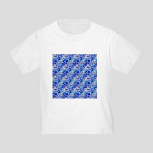 Azure Blue Crumpled Pattern Marble T-Shirt