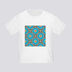 Orange and Blue Mid Century Modern T-Shirt