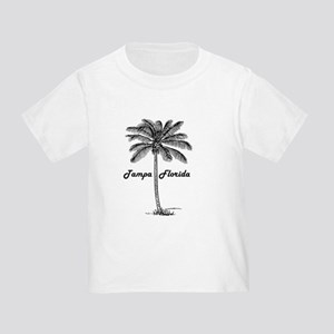 Black and White Tampa & Palm design T-Shirt