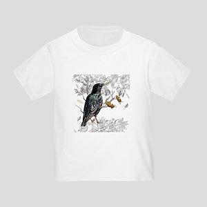 Leaves birds background set T-Shirt