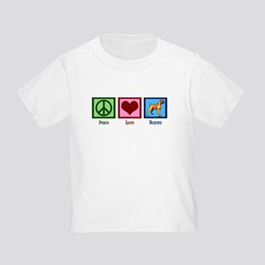 Peace Love Boxer Dog Toddler T-Shirt
