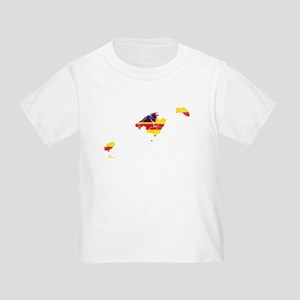 Balearic Islands Flag And Map Toddler T-Shirt