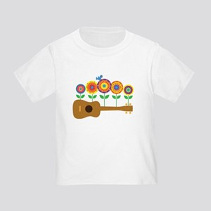 Ukulele Flowers Toddler T-Shirt