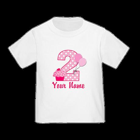 2nd Birthday Cupcake Toddler T-Shirt