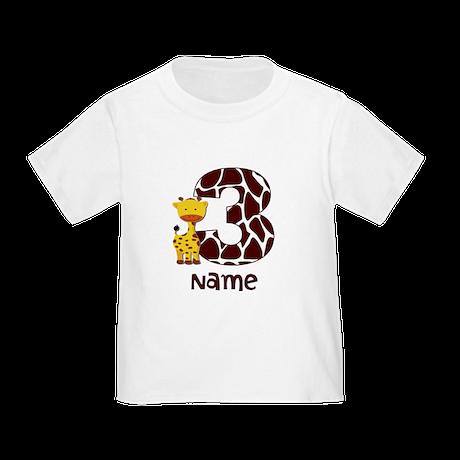 3rd Birthday Giraffe T-Shirt