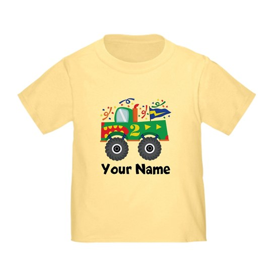 Personalized Monster Truck 2nd Bday
