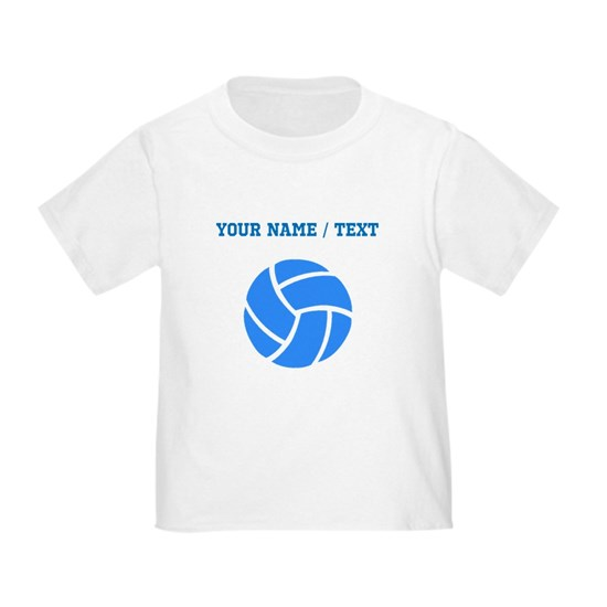 Custom Blue Volleyball