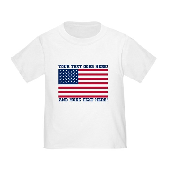 Personalized Patriotic American Flag Classic