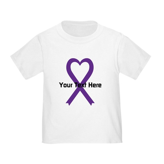 Personalized Purple Ribbon Heart