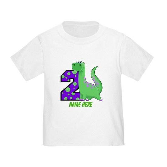 2nd Birthday Dinosaur Custom