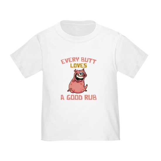 Cute Every Butt Loves A Good Rub Funny Pig BBQ Pun