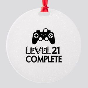 Level 21 Complete Birthday Designs Round Ornament