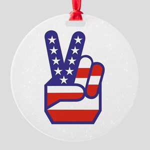 Spirit of '76 Peace Round Ornament