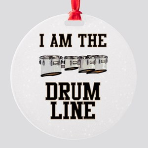 Quads: The Drumline Round Ornament