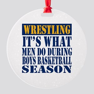 Boys Basketball Season Round Ornament