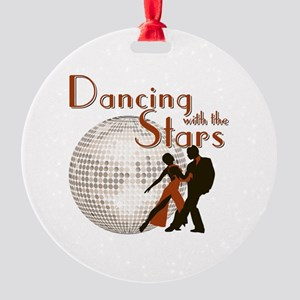 Retro Dancing with the Stars Round Ornament