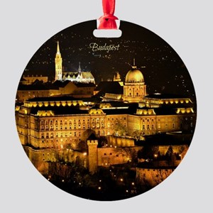 Photograph of Budapest at Night Round Ornament