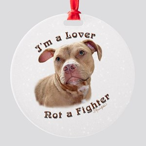 I'm a Lover Round Ornament