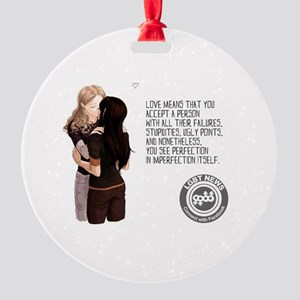 Love Means... Round Ornament