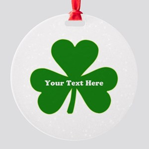 Ireland Green Clover Round Ornament