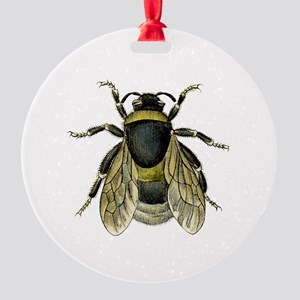 Bee Round Ornament