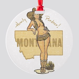 Faded Montana Pinup Ornament