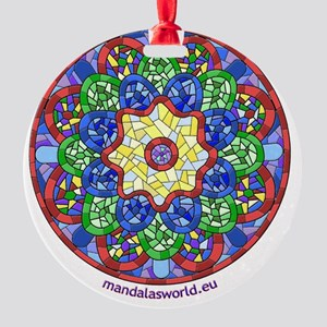 Modernism Gaudi Guell n1 Round Ornament