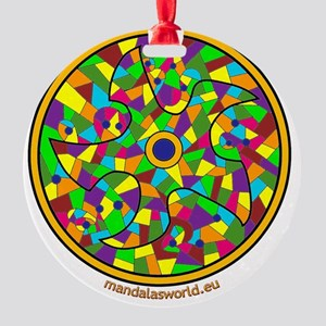 Modernism Gaudi Guell n3 Round Ornament