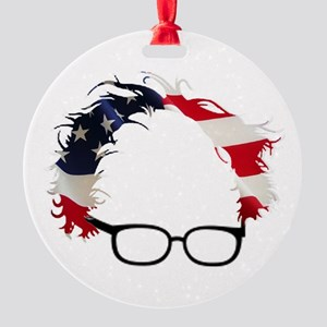 Bernie Flag Hair Round Ornament