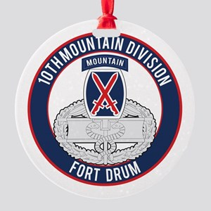 10th Mountain CFMB Round Ornament