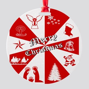 Merry Christmas, Gifts  Round Ornament