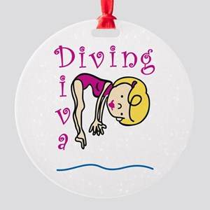 Diving Diva Ornament