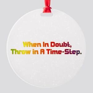 Time Step Round Ornament