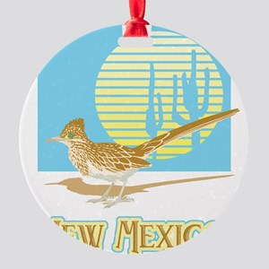 New Mexico Roadrunner Round Ornament