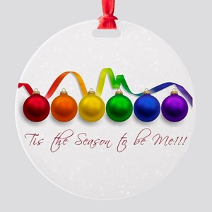 gaypridechristmasgifts Round Ornament
