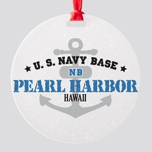 HI Pearl Harbor 1 Round Ornament
