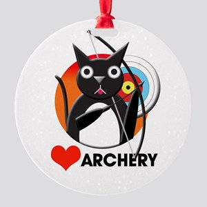 love_archery.png Round Ornament