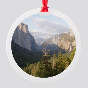 Yosemite_vista_ornament Round Ornament