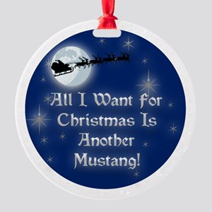 2-mustanganother Round Ornament