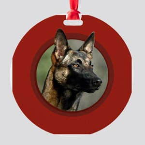 malinois_red.png Round Ornament