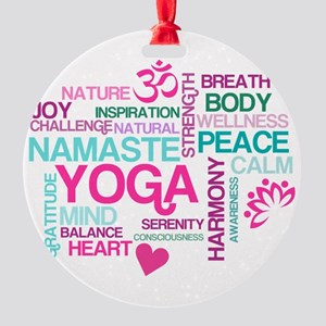Yoga Inspirations Round Ornament