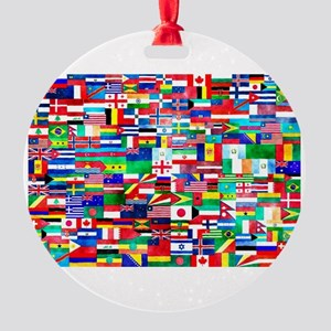 Flag Collage Round Ornament