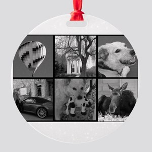 Photo Block to Personalize Round Ornament
