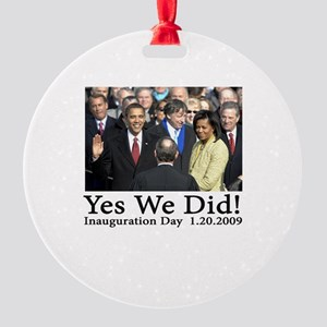 Yes We Did! Round Ornament