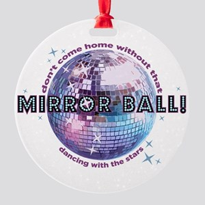 dwts-mirror-ball Round Ornament