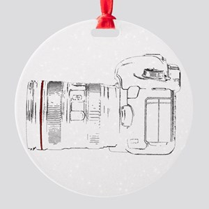 Camera Out! Round Ornament