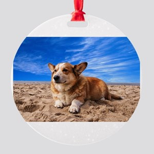 Cute Corgi Round Ornament