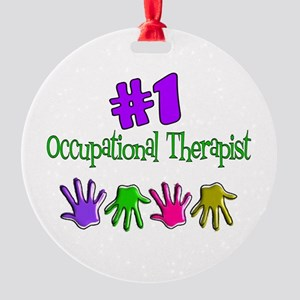 Occupation Therapist Round Ornament