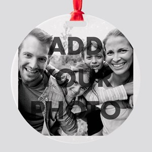 Add Your Photo Round Ornament
